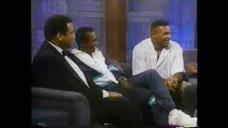 Muhammad Ali, Sugar Ray Leonard & Mike Tyson @ The Arsenio Hall Show 1990