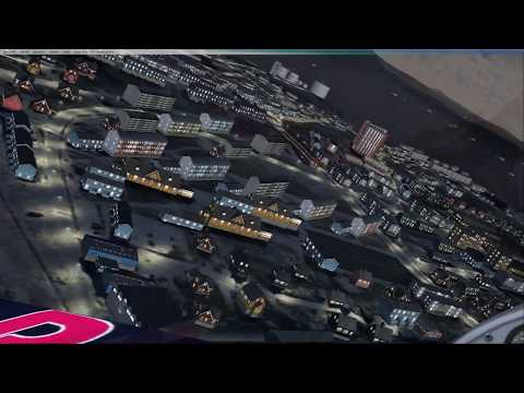 Flight simulator X NUUK at night