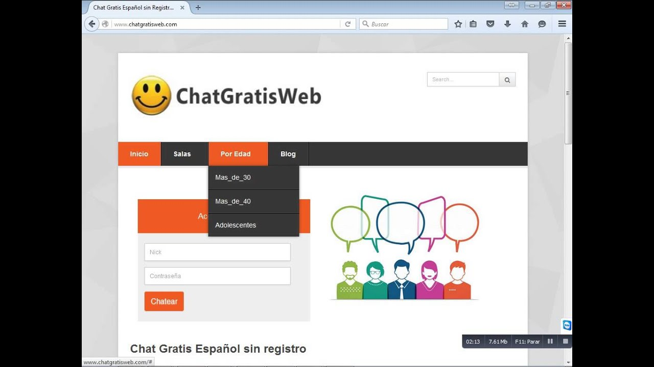 Video chat en espanol