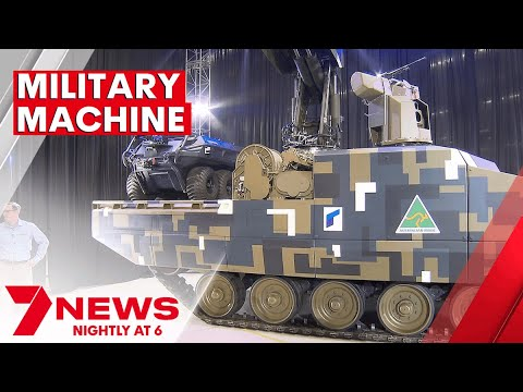 Australia's secret new military combat vehicle unveiled   7NEWS