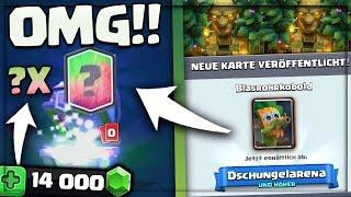 OMG! - NEUE KARTE BLASROHRKOBOLD!! | 14.000 Gems Legendary Chest Opening | Clash Royale deutsch