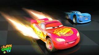 - По мультику ТАЧКИ 3 3 детская игра про Молнию Маквина тачки гонки видео для детей Cars 3