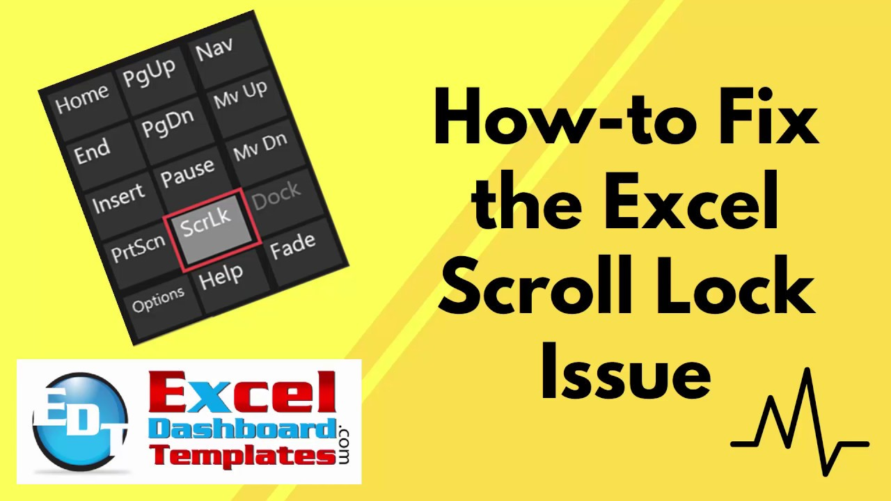 How To Fix The Excel Scroll Lock Issue Youtube Lock excel spreadsheet from scrolling