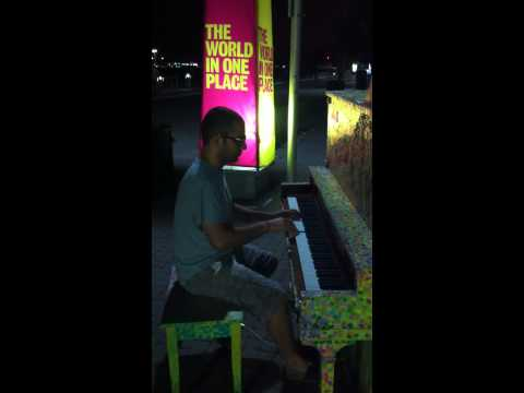 Trying out the Street Pianos