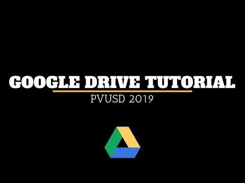 Google Drive Tutorial 2019