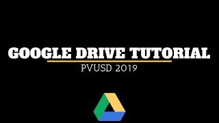 Google Drive Tutorial 2019