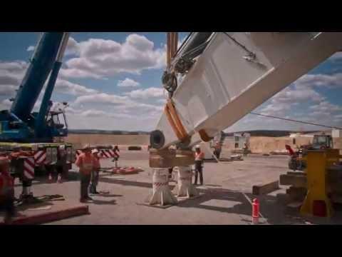 Liebherr - R 9800 Mining Excavator Ship to Site (Timelapse)