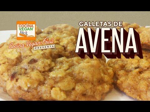 Galletas de avena - Cocina Vegan Fácil