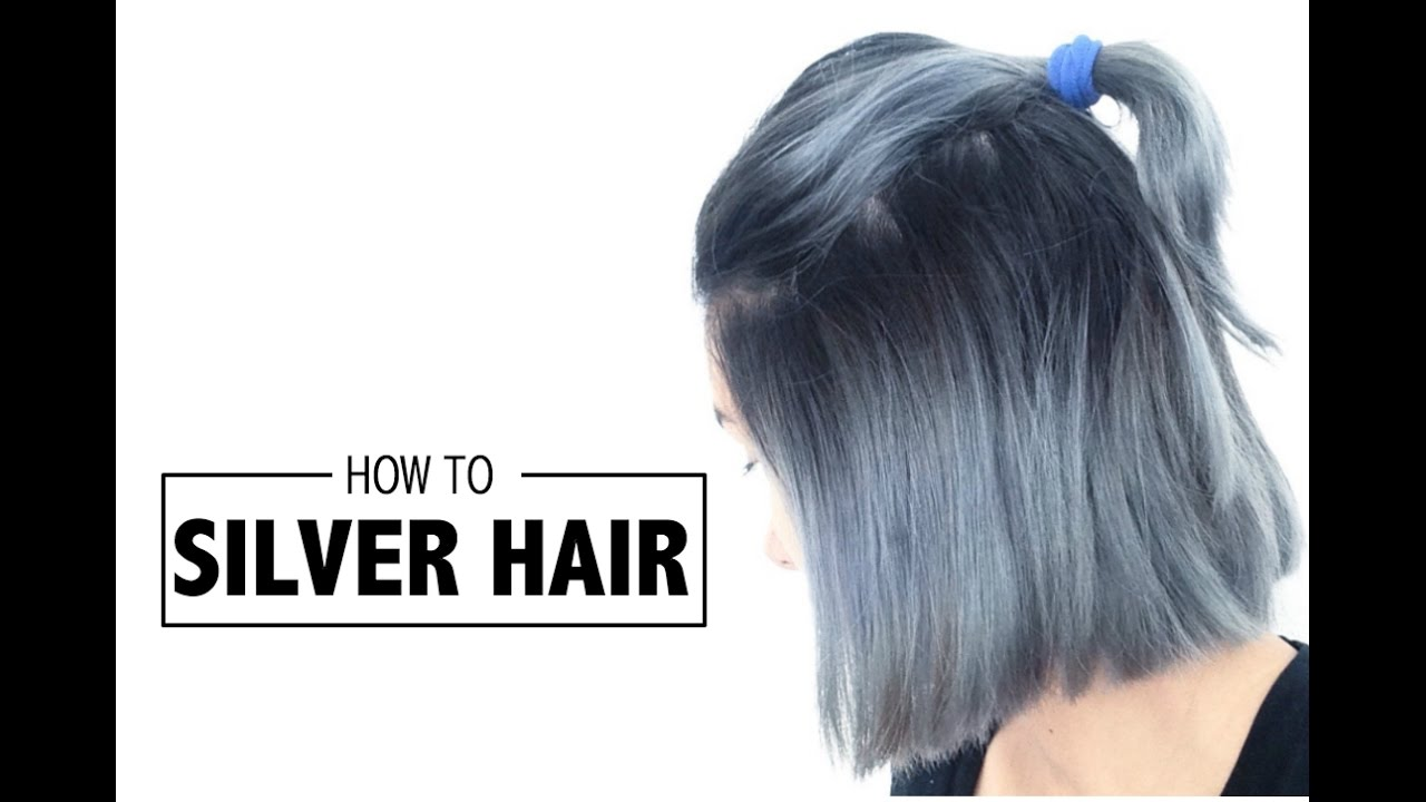 How To Silver Hair Ombre Youtube