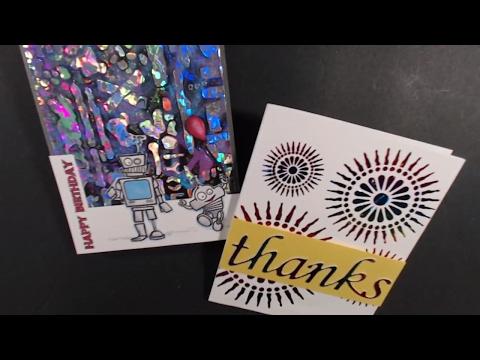 Foil Tranfer Gel, Sticker Paper and Laminator for Greeting Cards