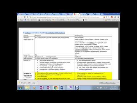 Journal/Report for Questionnaire Design Employee Satisfaction