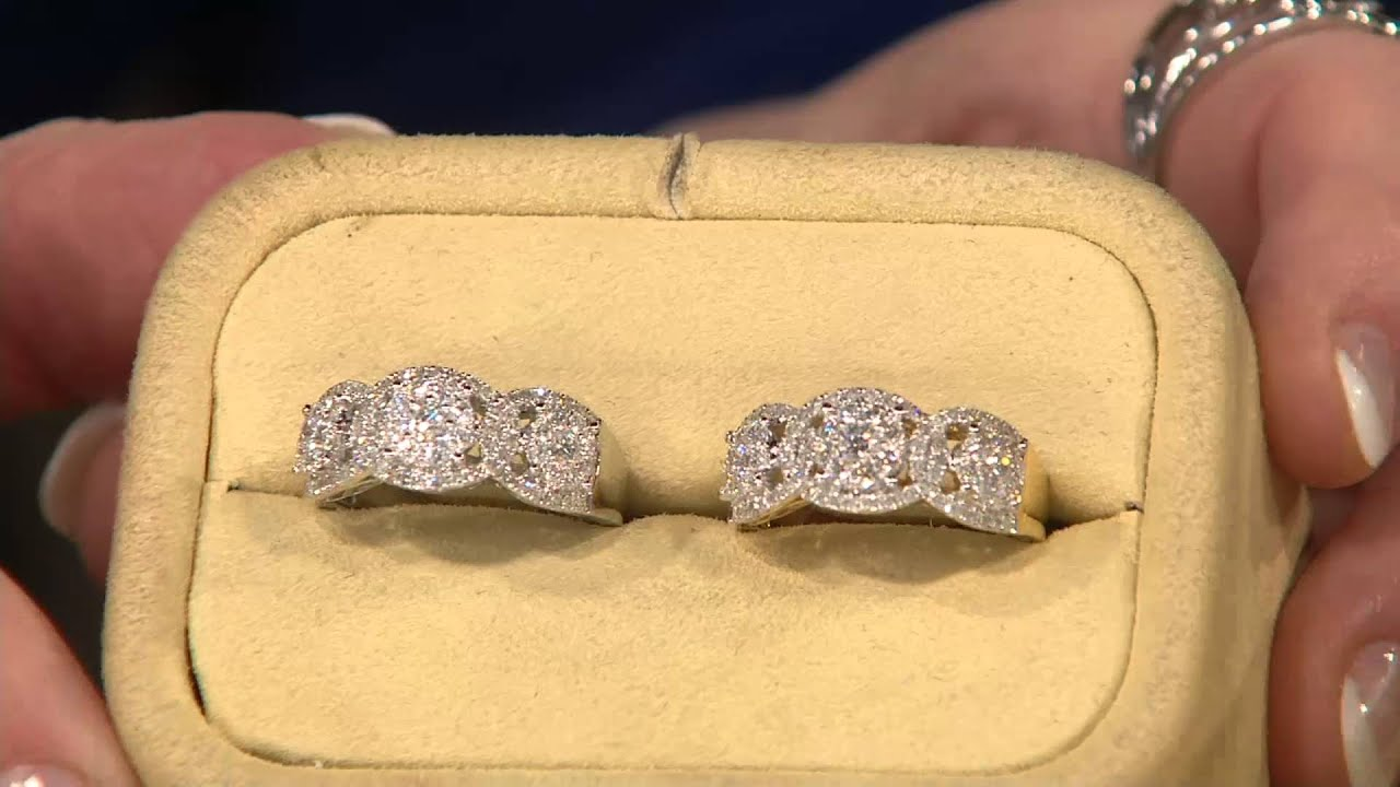 Cluster Design Diamond Rings, 14k Gold 1cttw By Affinity On Qvc