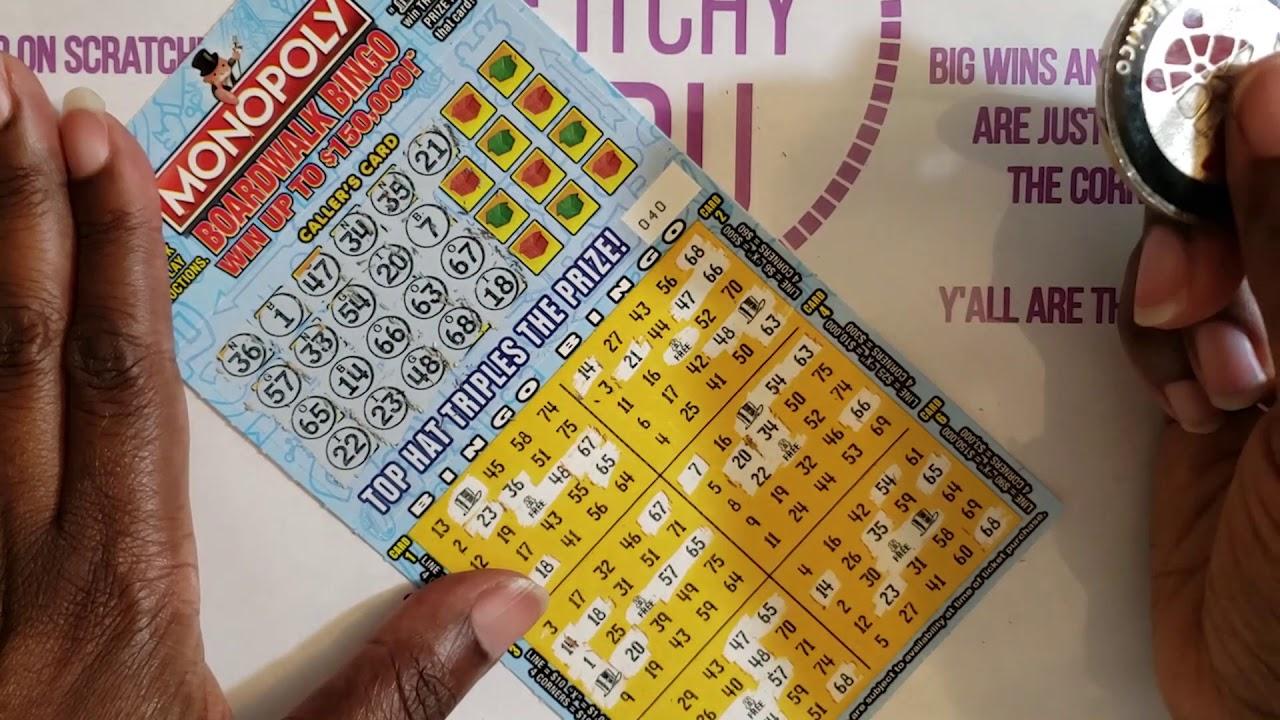 Monopoly Boardwalk Bingo Scratch Off