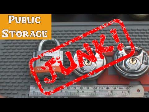 (60) Public Storage Area Padlocks - AVOID THEM!!!