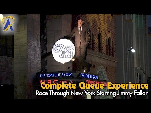 Race Through New York Starring Jimmy Fallon complete queue experience at Universal Orlando