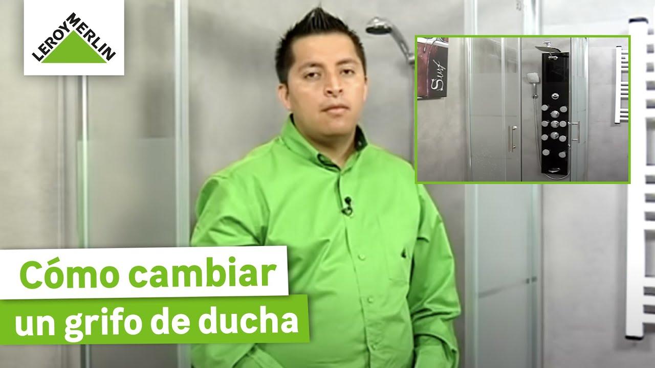 Cambiar un grifo de ducha por una columna de hidromasaje for Ducha jardin leroy merlin