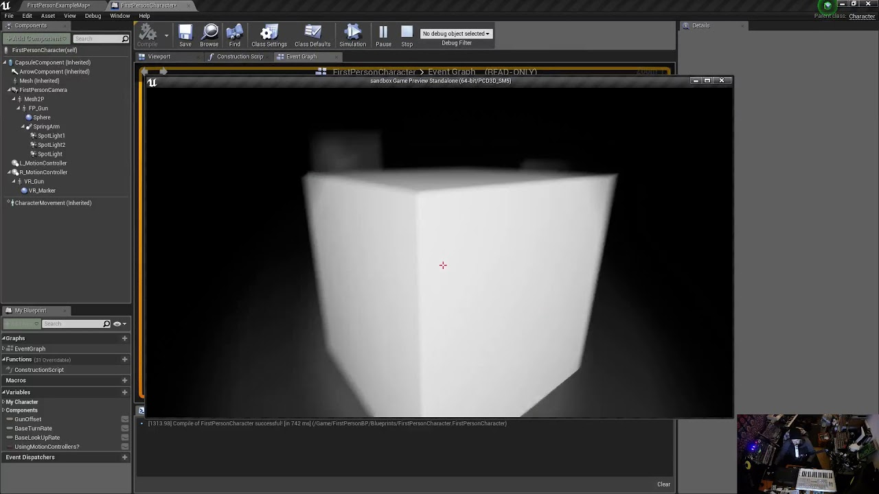 Unreal Engine 4 - Smooth Right-Mouse Button Zoom In