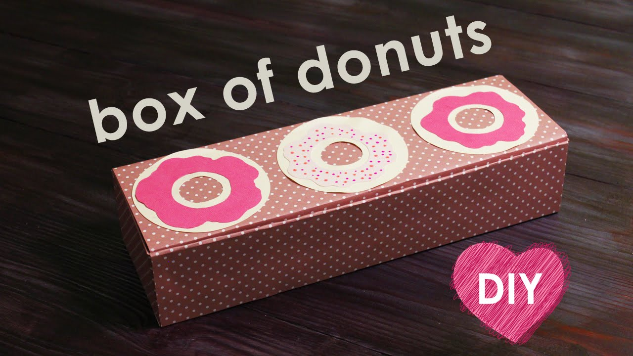 How to make a donut box - YouTube