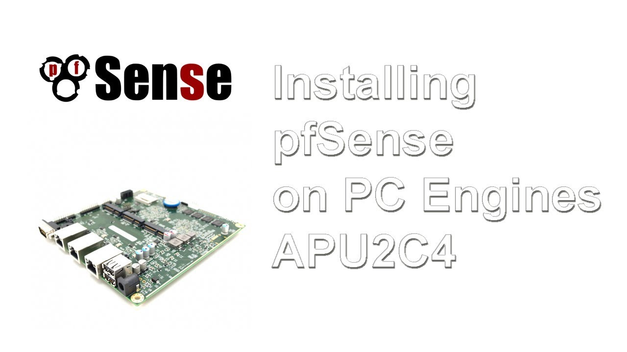How To Install Pfsense On A Pc Engines Apu2c4 Board Via Console By Viewsonic Lcd Vp2290b Assembly Procedure