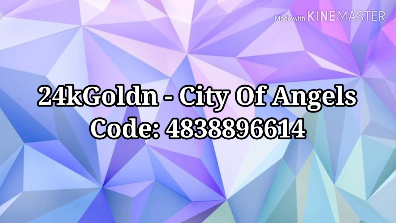 24kgoldn City Of Angels Roblox Music Code Youtube