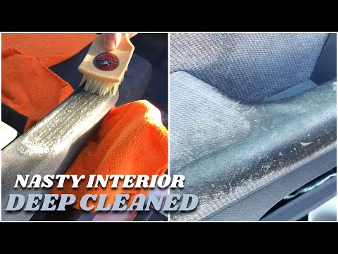 Detailing A Neglected 😩 Car Interior At Home FAST Results