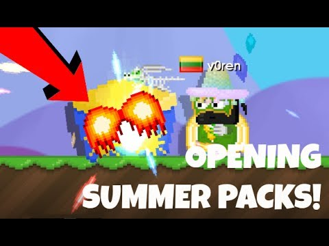 Growtopia | OPENING SUMMERFEST PACKS! OMG!!!