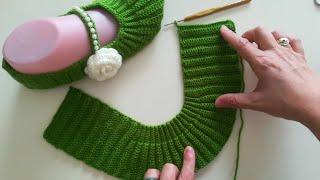 Çok kolay patik yapımı / Tığ işi patik / patik modelleri #patikmodelleri #kolaypatik #crochet