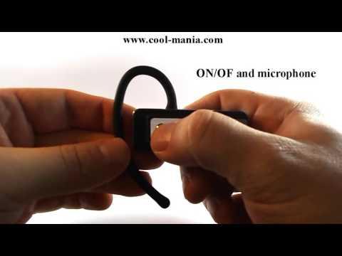 Bluetooth Headset - FULL HD Spy camera