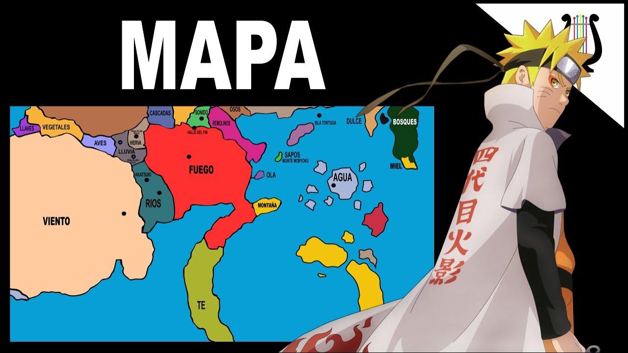 Explicacion Mapa Completo Del Mundo Ninja Todas Las Aldeas Y Naciones Naruto Shippuden Youtube