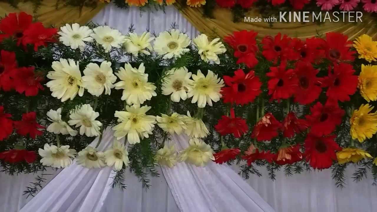 marriage wedding flowers stage decoration video s youtube. Black Bedroom Furniture Sets. Home Design Ideas