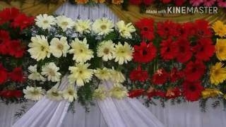 Marriage Wedding Flowers Stage Decoration .video.s