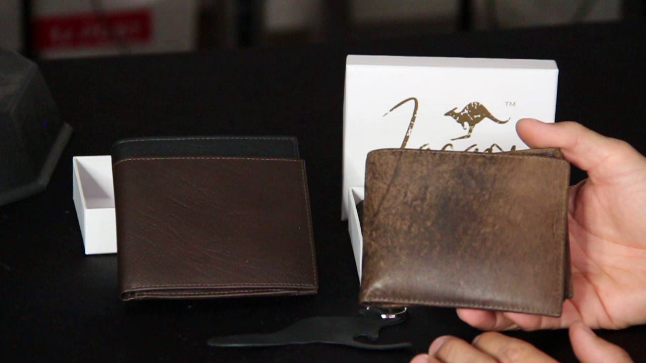 Stonewash Jacaru Kangaroo Leather Coin Wallet