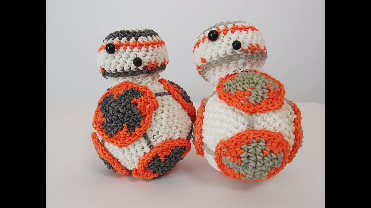 Amigurumi Loom Patterns : Bb 8 droid from star wars rainbow loom bands amigurumi loomigurumi