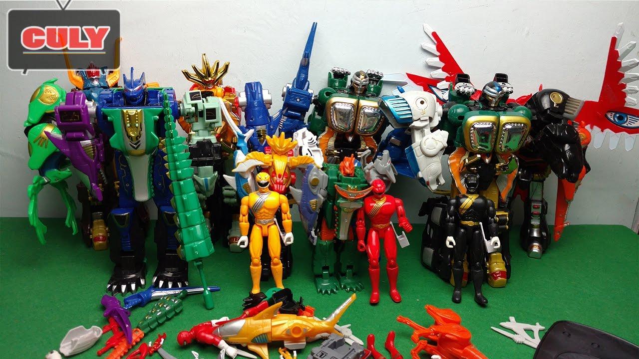 Bộ sưu tập siêu nhân gao robot siêu thú tùm lum - power ranger wild force  gao rangers collection toy - YouTube