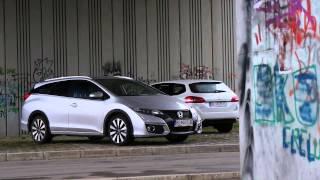 Škoda Octavia s pol miliónom km a  Peugeot 308 SW proti Honda Civic Tourer