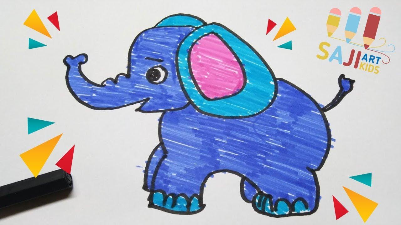 วาดร ประบายส เมจ ก วาดร ปช างง ายๆ How To Draw And Paint An Elephant