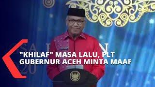 Jokowi Kunjungi Aceh, Plt Gubernur Aceh Minta Maaf atas Kekhilafan Masa Lalu