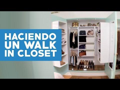 ¿Cómo transformar un closet en walk-in closet?