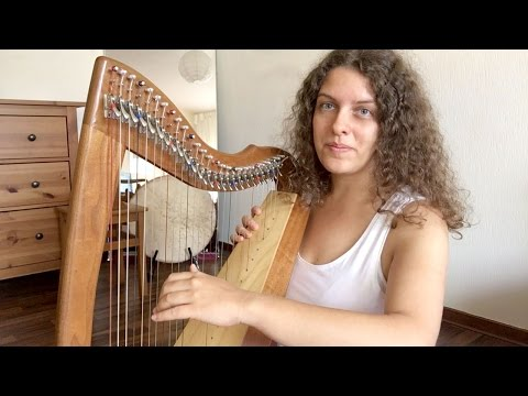Your Very Gentle Harp Lesson #2 - Playing With Two Hands (ASMR soft spoken)