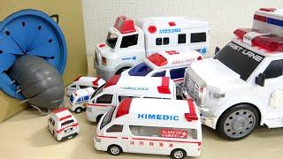 小さい救急車から大きい救急車に返信 巨大ダンゴムシとの戦い はたらくくるま