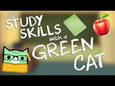 STUDY SKILLS WITH A GREEN CAT  Geometry Dash Juniper