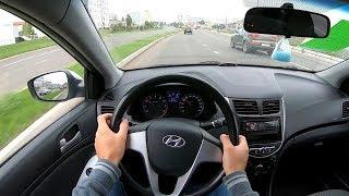 2011 Hyundai Solaris 1.6 AT (123) POV TEST DRIVE