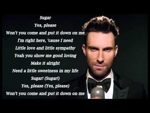 Sugar   Maroon 5 Lyric Video 1 Hour Music