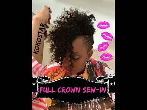 New Weave Alert Crazy Curly Crown Full Weave Sew In