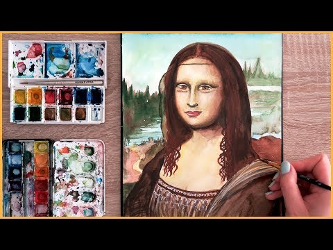 Painting The Mona Lisa By Leonardo Da Vinci With Watercolors? Art Journal Thursday Ep. 16