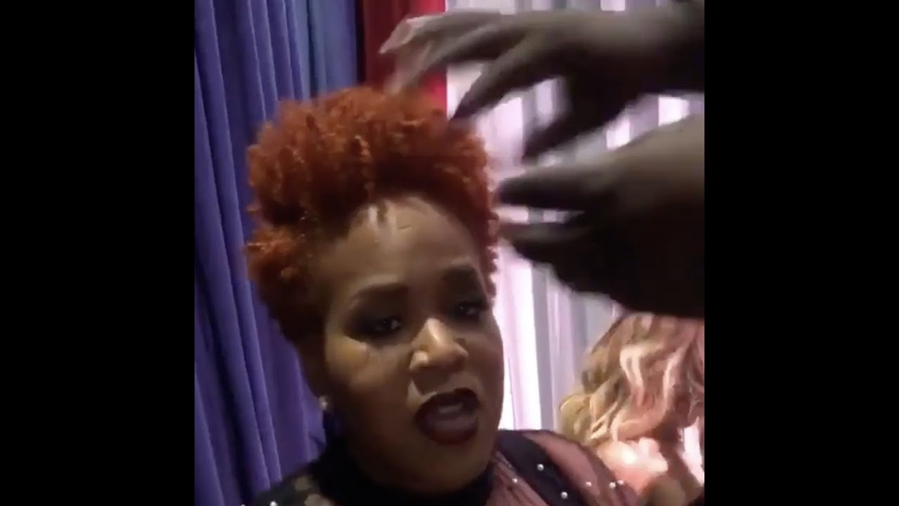 warryn campbell tries to help tina campbell with her hair