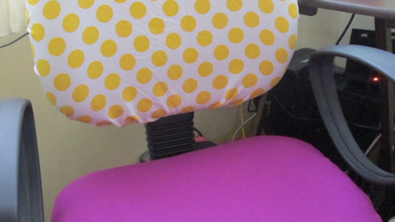 desk chair cover for hardwood floors make cute office covers diy home guidecentral youtube