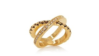 "Emma Skye Jewelry Designs Crystal ""X"" Popcorn Ring"