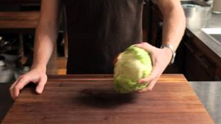 How to Core a Head of Iceberg Lettuce in 3 Seconds