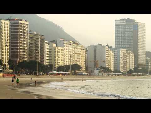 Tall buildings along the coast of Rio de Janeiro, Brazil